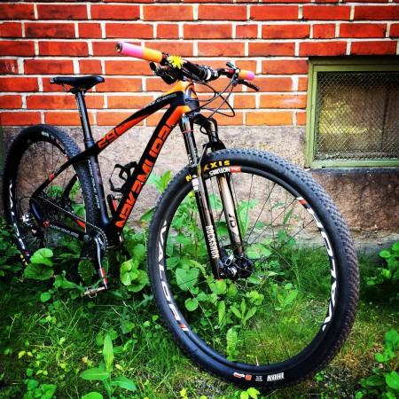 Sykkelen #NakamuraGrade29Team er klar for NM-XCO i morgen! Men er jeg klar?? #NM #Rundbane #GonnaBeAHardRace #KulLøype #Grønmo #Oslo #Intersport #Maxxsis #GripGrab #CobbCyclingNorge @rsmhkw #Syraimorgen