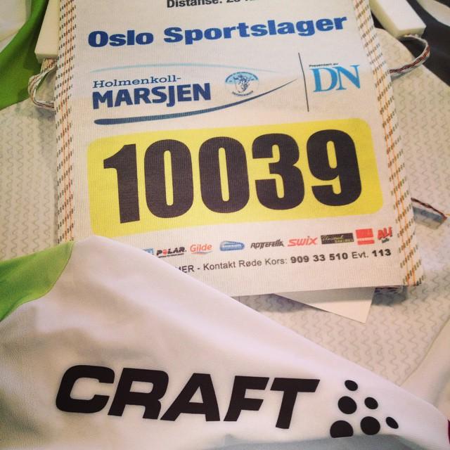 3. plass i klassa og 5 beste dame totalt i Holmenkollmarsjen!